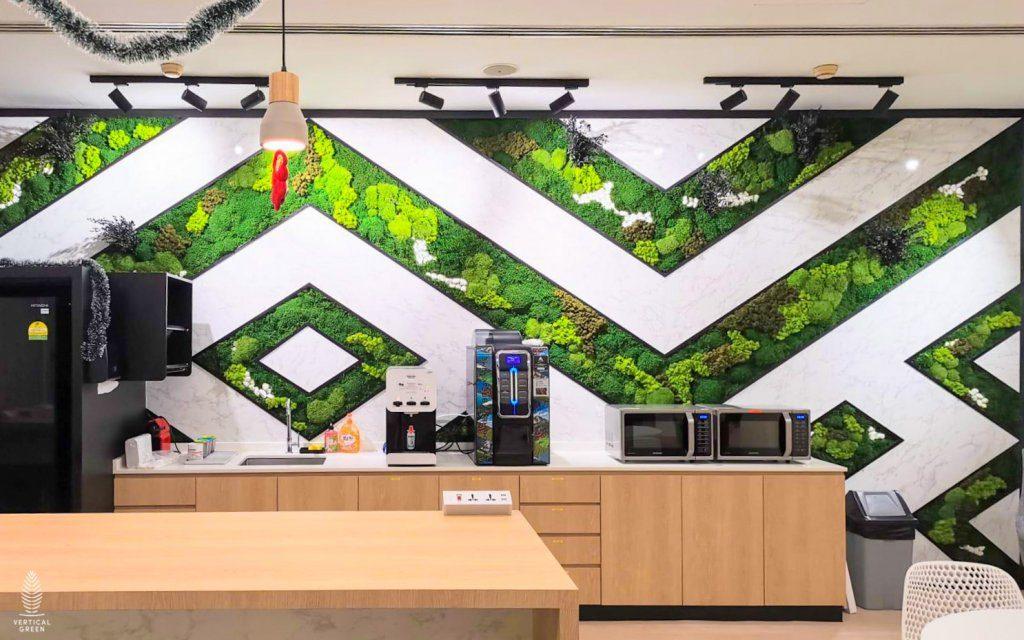 geometric design of flat moss